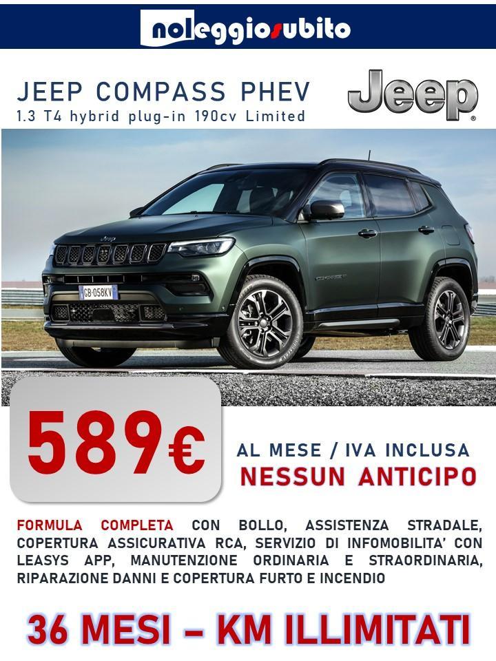 Jeep COMPASS PHEV - chilometri illimitati