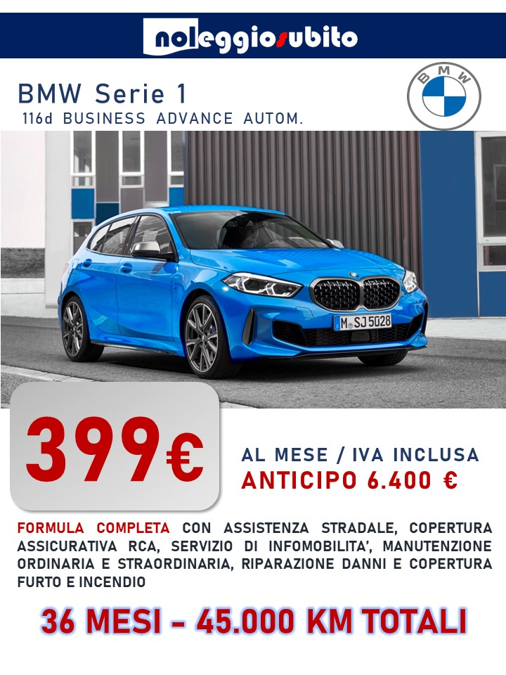 BMW SERIE1 offerta noleggio lungo termine