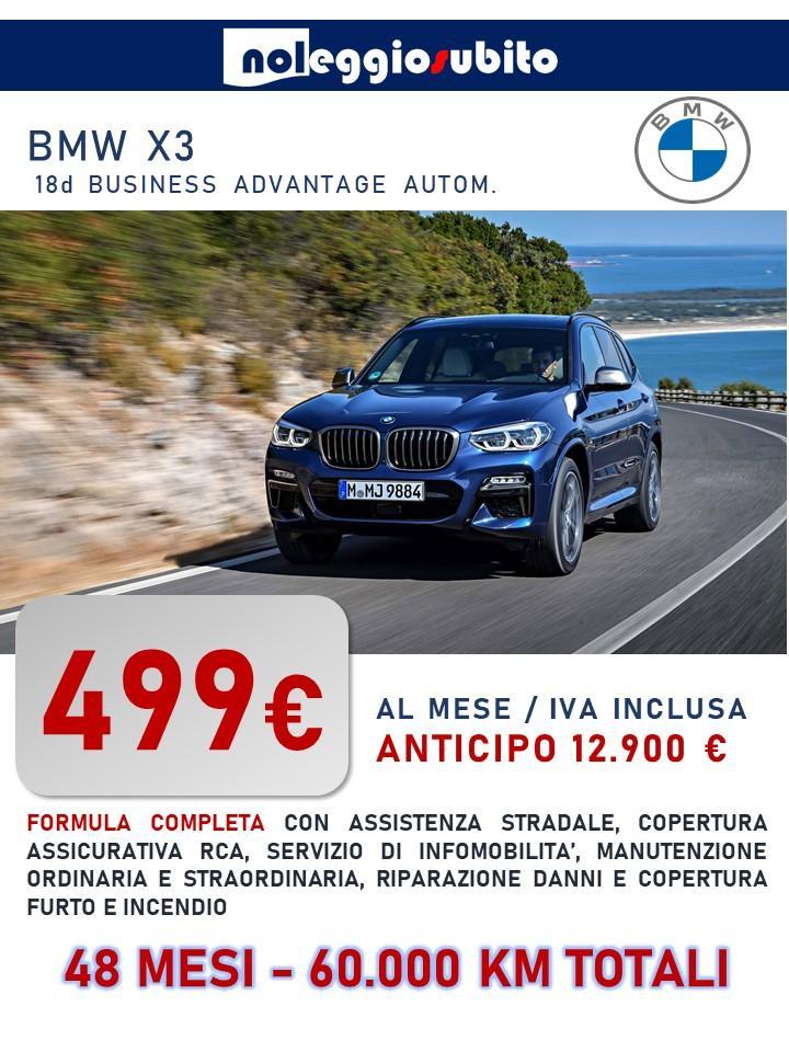 BMW X3 offerta noleggio lungo termine