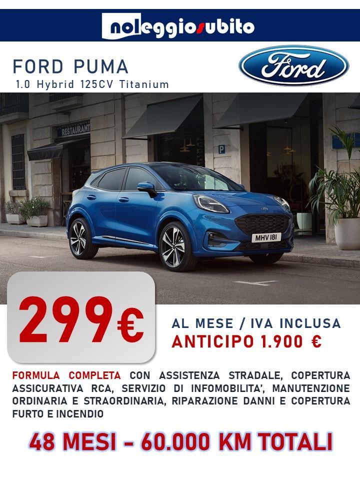 Ford Puma offerta noleggio