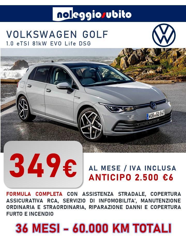 VolksWagen Golf ibrida noleggio offerta