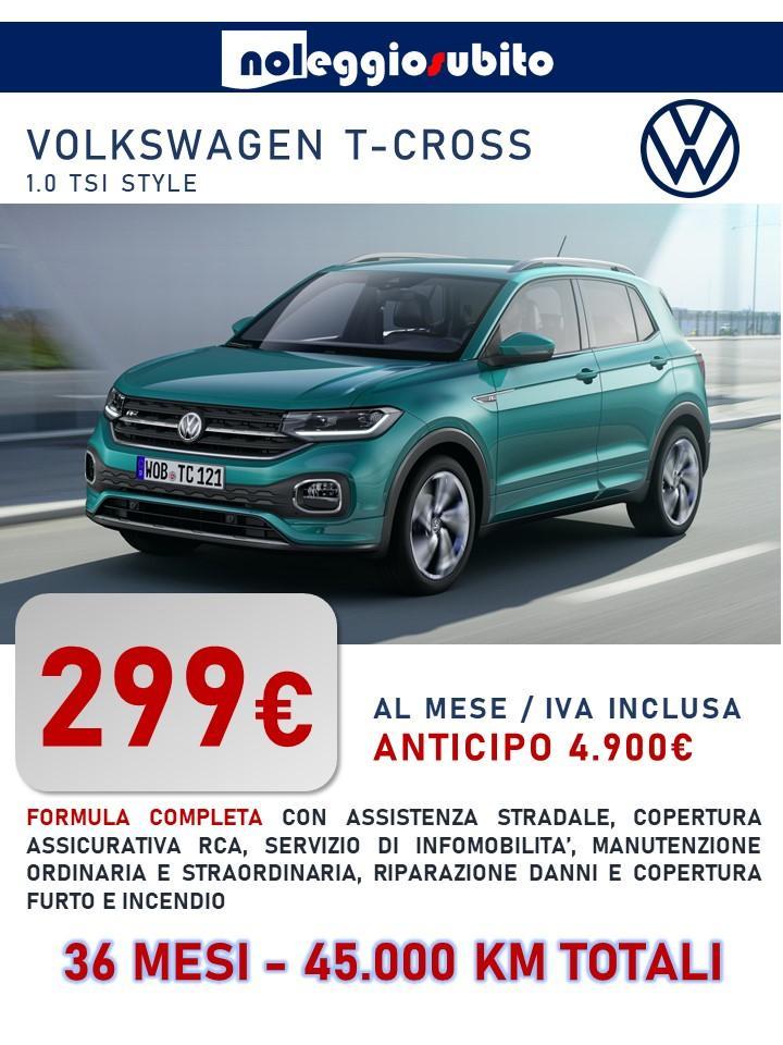 Volkswagen T-CROSS offerta noleggio lungo termine