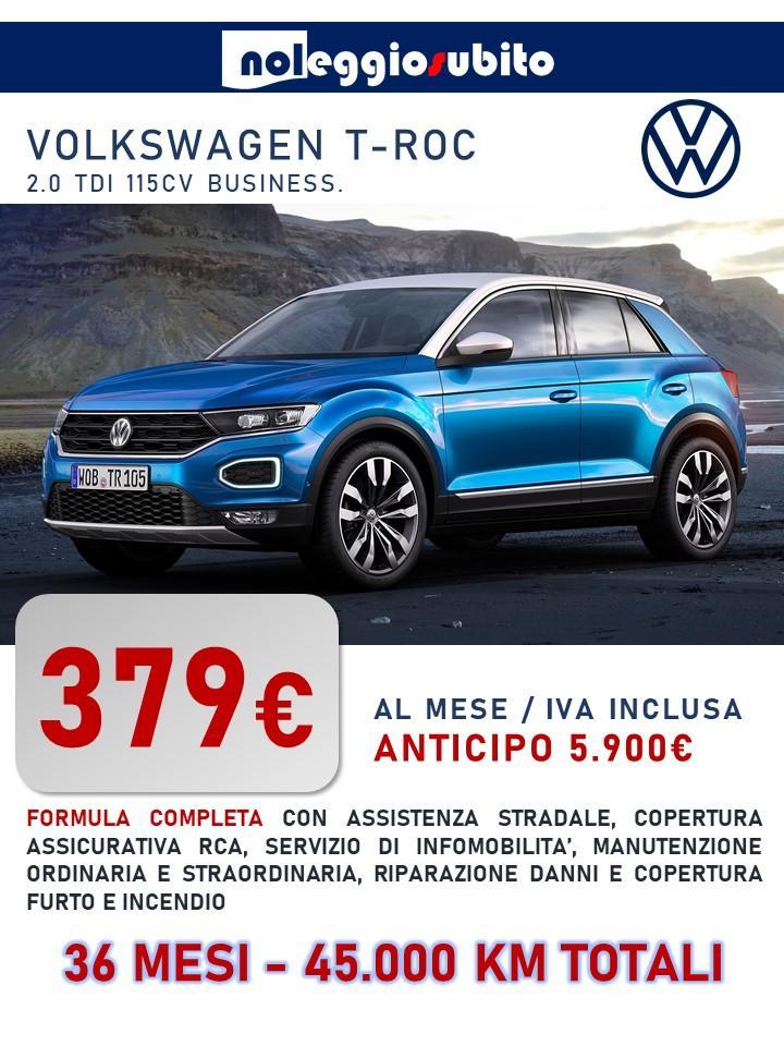 Volkwagen T-ROC offerta noleggio lungo termine