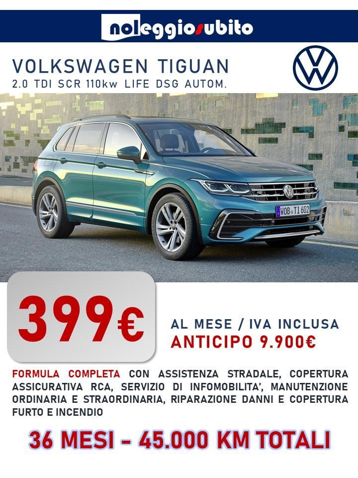Volkswagen TIGUAN offerta noleggio lungo termine